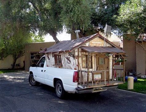 funny rv: kids playhouse converted into a truck camper?