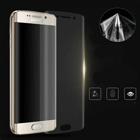 Remax Pet Cover Curved Screen Guard Samsung Galaxy S6 Diskon 3d cover screen protector curved clear tpu pet