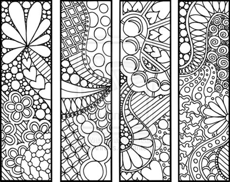 free printable zentangle bookmarks 8 best images of free zentangle printable bookmarks to