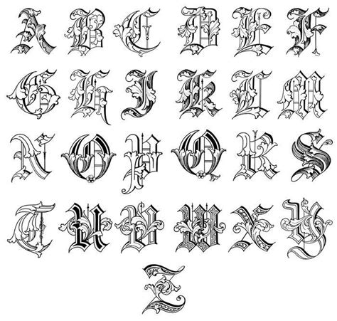 tattoo fonts english to chinese english calligraphy alphabet a z google search chinese