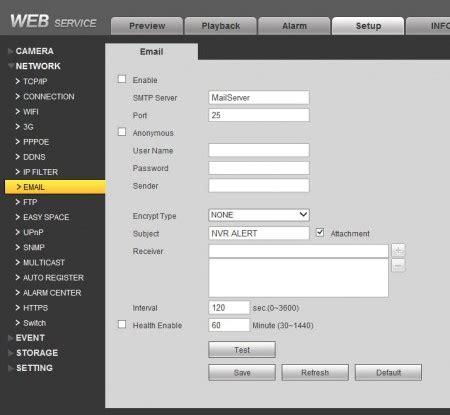 security dvr and nvr email alert setup guide / cctv camera