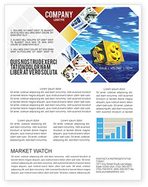 Financial Newsletter Templates In Microsoft Word Adobe Illustrator And Other Formats Download Financial Newsletter Templates