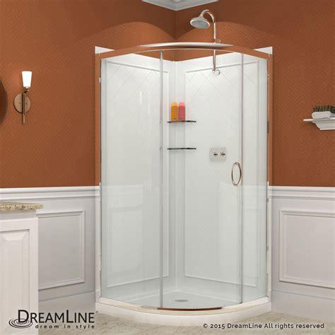 Shower Enclosure With Base Sliding Shower Enclosure Base Backwall Kits