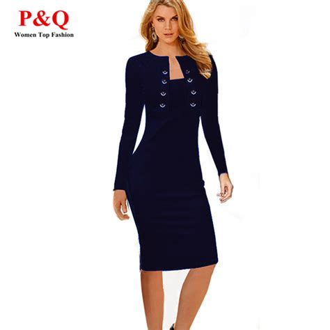 office wear aliexpress buy 2016 formal pencil dresses business