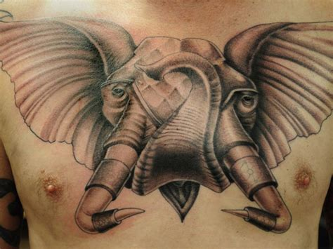 elephant tattoo with trunk up meaning elephant good luck trunk up busbones