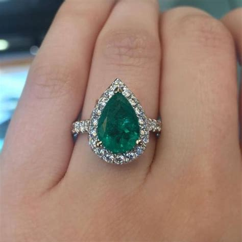 rubies work this pear shaped emerald ring is a gorgeous