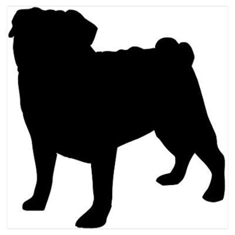 pug silhouette clip pug and silhouette on