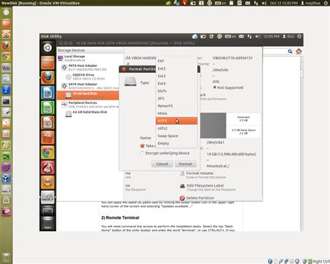 format cd on ubuntu 12 04 how to format partition new hdd for windows ask