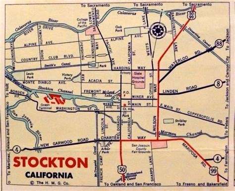 california map stockton guest post a city with no center freeways and the