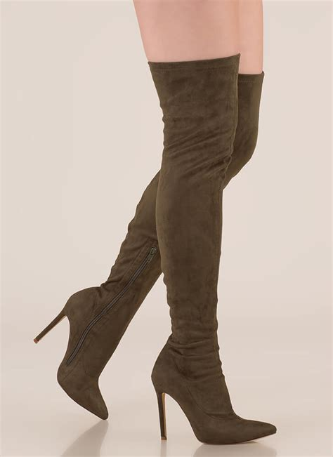 olive color boots story chic thigh high boots olive mauve maroon grey