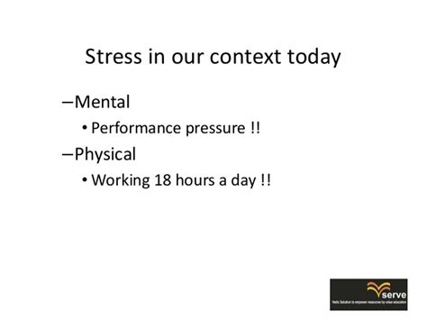 Parisae Condition Ae Mental Not Physical by Microsoft Powerpoint Stress Management Based On Vedic Wisdom