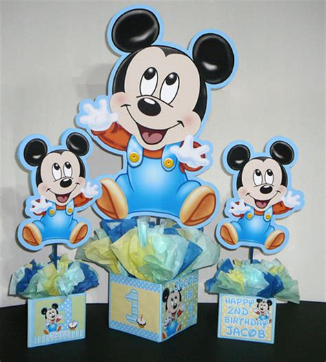 baby mickey centerpiece 24 inch baby mickey mouse decorations handmade supplies