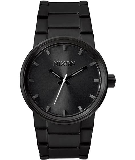 nixon cannon all black analog