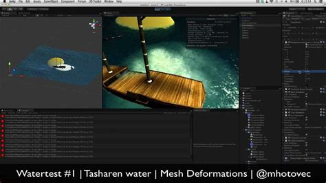 tutorial unity shader unity3d water shader displace mesh deformation youtube