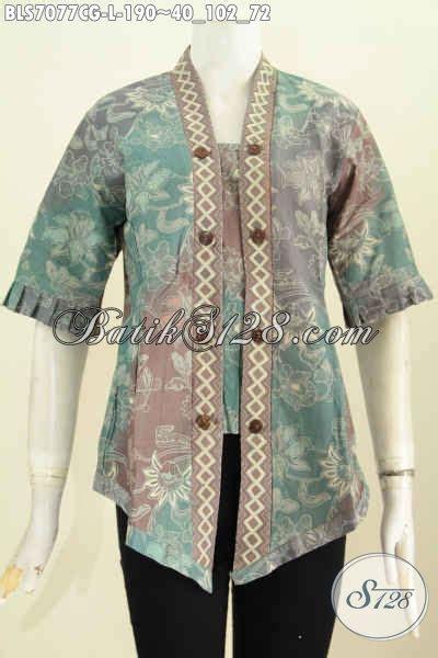 Batik Gamis Gradasi batik blus elegan motif mewah warna gradasi pakaian batik