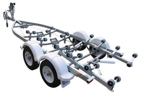 boat trailer axle length tandem axle 24 roller mechanically braked boat trailers