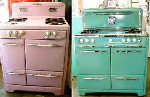 beautiful Retro Inspired Kitchen Appliances #3: vintage.stoves.2a.jpg