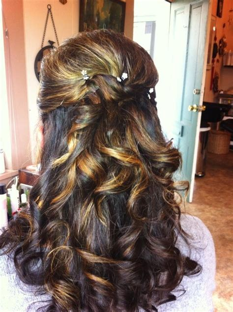 occasion hairstyles down curly half up half down instructions at preen me