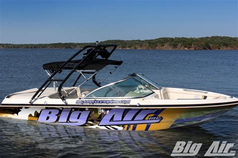 big boat speakers mastercraft boat with big air cuda wakeboard tower also