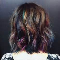 hair color for 2017 oil slick hair trend for brunettes new hair color