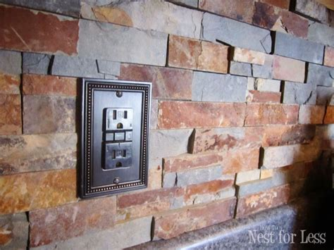 Kitchen Island Electrical Outlet Stone Kitchen Backsplash How To Nest For Less