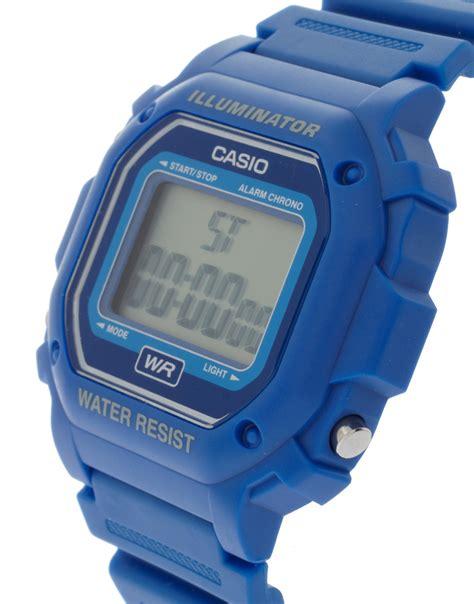 Casio F 108wh 2aef lyst g shock f 108wh 2aef digital illuminator in blue