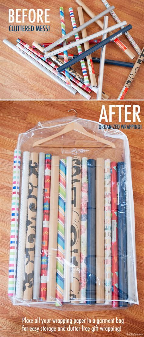 How To Wrap A For Storage by Creative Wrapping Paper Storage Ideas Hative