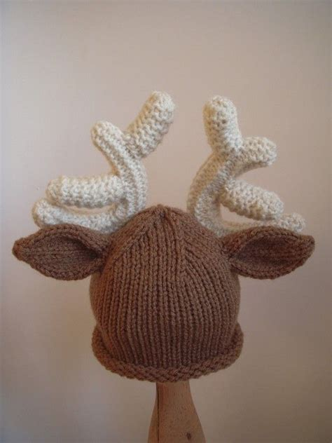 reindeer hat christmas baby deer hat knit infant photo