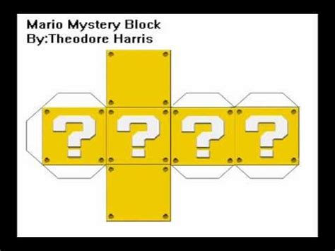 Custom Paper Crafts Mario Mystery Block