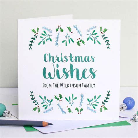 personalised christmas wishes card  martha brook notonthehighstreetcom