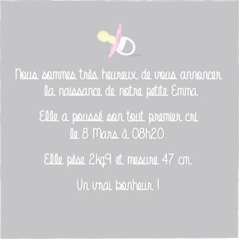 Exemple De Lettre Felicitation Naissance Las 25 Mejores Ideas Sobre Texte Faire Part Naissance En Texte Naissance Fille