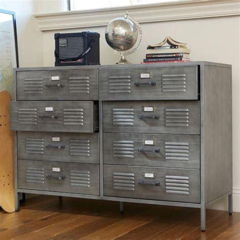 galvanized silver metal tool storage locker
