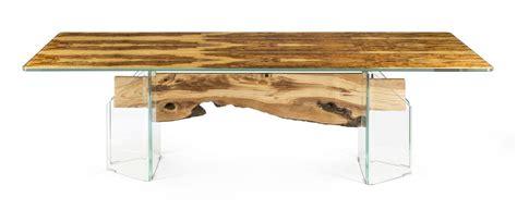 tavoli legno vetro portofino tavolo rettangolare in legno e vetro idfdesign