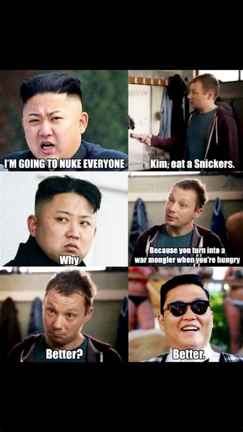 Kim Jong Un Snickers Meme - adam rose on twitter quot eat a snickers kim jong un http