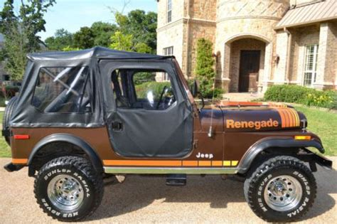 brown jeep cj7 purchase used cj7 renegade brown excellent condition