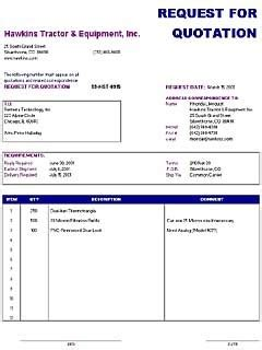office template request  quotation