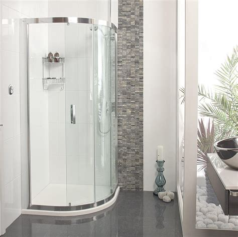 Embrace Quadrant Single Door Shower Enclosure Roman Showers Quadrant Shower Doors