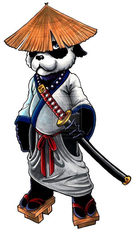 samurai panda warcraft art cyberpunk art panda