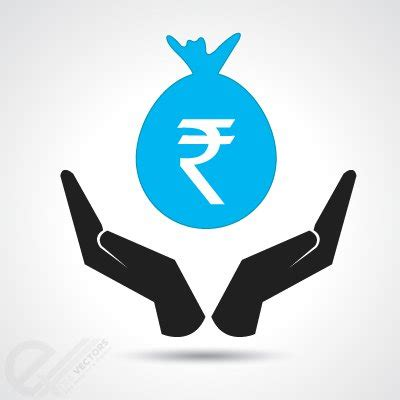 money bag with indian rupee, vector graphic clipart.me