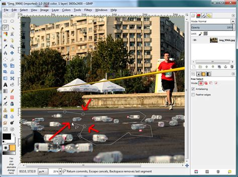 gimp tutorial lasso tool nicu s foss n stuff photoshop versus gimp