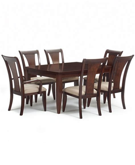Macys Dining Room Table Metropolitan Contemporary 7 Dining Set Dining Table 4 Side Chairs 2 Arm Chairs