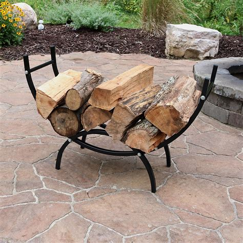 You Rack by Sunnydaze Curved Firewood Log Rack Log Rack Cover Cover