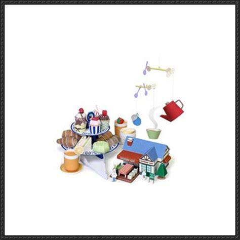 Papercraft Cafe - papercraft for caf 233 playset free templates