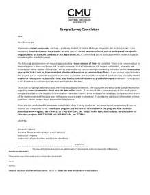 survey cover letter sle survey cover letter