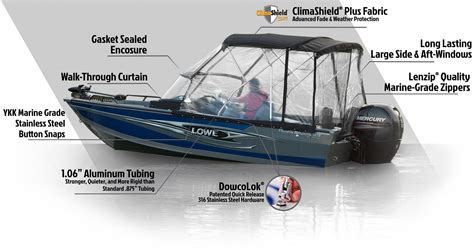 dowco custom boat covers dowco premium aluminum boat covers and encolosures