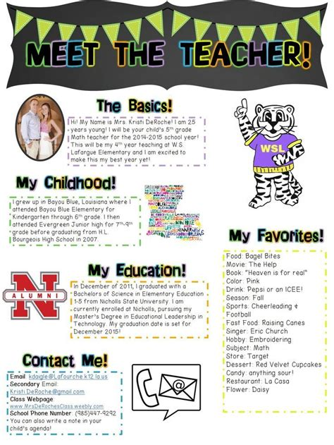 101 Best Images About 3rd Grade Back To School On Pinterest Meet The Newsletter Templates