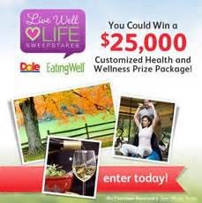 Eating Well Magazine Sweepstakes - dole salads quot live well love life quot sweepstakes i crave freebies