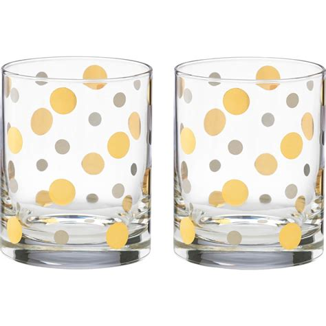 kate spade barware kate spade by lenox pearl double old fashioned glass set