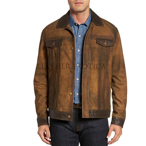 Suede Leather distressed premium suede leather jacket