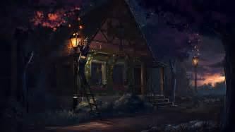 the blue light tale house tale light hd wallpaper 9211